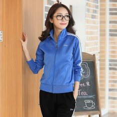Yilee Two Pieces Womens Casual Pants + Long-Sleeved Sports Suit Lovers Running Cardigans( Sky Blue) - Intl ราคา 1,017 บาท(-54%)