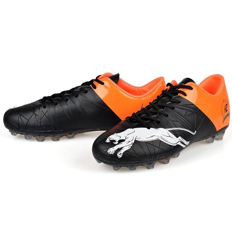 สุดยอด ZNPNXN Leather Men's Sports Football Shoes (Black) ซื้อเลย