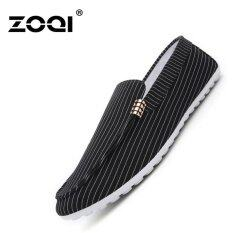 Zoqi Fashion Canvas Shoes Slip-Ons & Loafers(black) - Intl ราคา 510 บาท(-70%)