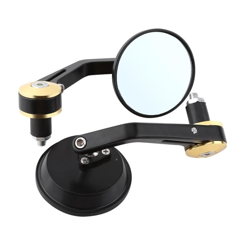 1 Pair Universal 7/8 Rear View Mirrors Motorcycle Sidemirror Gold - intl ...