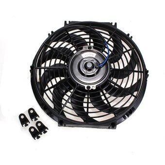 12 12V 80W Slim Reversible Electric Radiator Cooling Fan Push Pull Easy Install