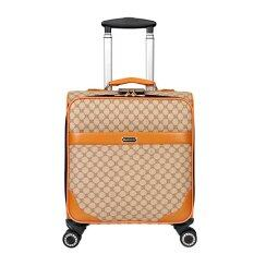 16 Inch Business Valise Pu Leather Trolley suitcase Personal Luggage with 360 rotation - Intl ส่งฟรี
