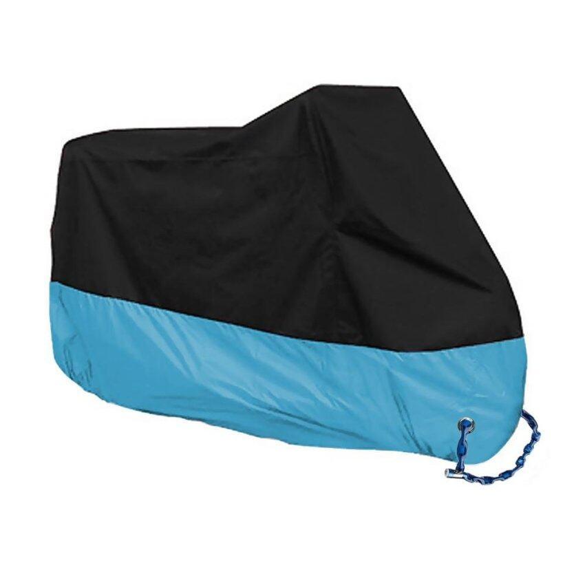 190T Waterproof Motocycle Cover UV Sun Shade Protective Case All Season Motor Bike Black 265CM XXXL Blue - intl