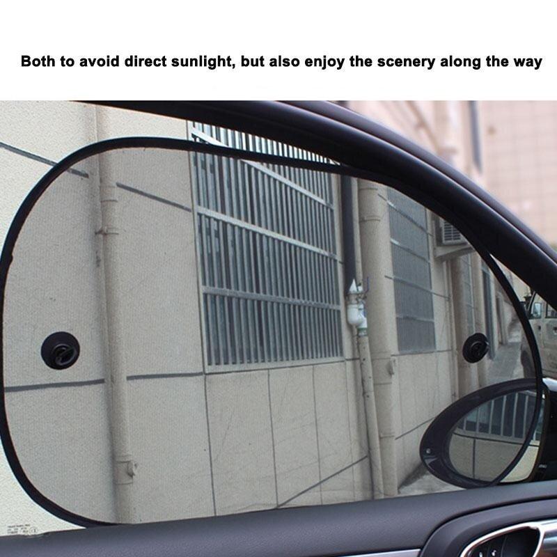 2 Pcs 65*38 CM Car Side Window Sunshade Cover Shield Screen Protection - intl