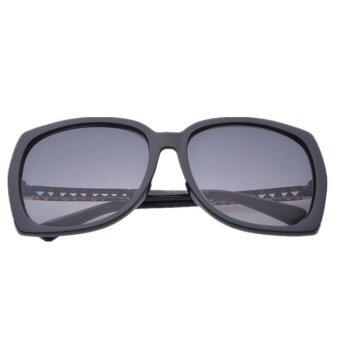 2015 NEW summer style reflected polarized sunglasses women black - intl