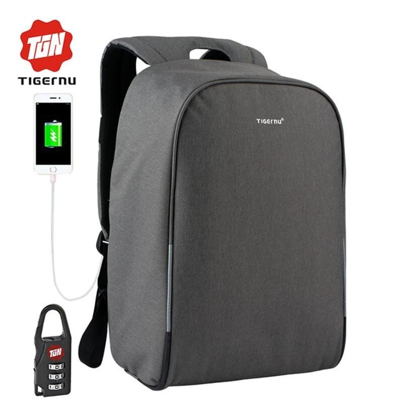 2017 New Tigernu 15.6inch Anti-theft Laptop Backpack External USB Charging Business Laptop Backpack Travel Bags - intl