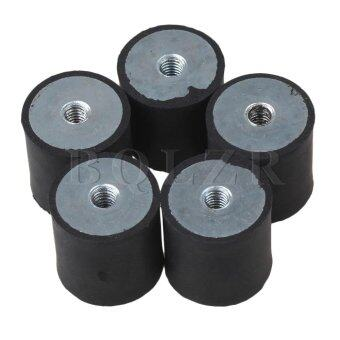 2.5*2.5CM M6 Shock Absorbers Set of 5 black + silver