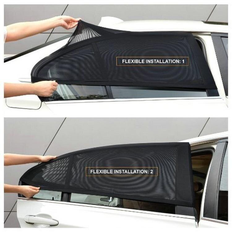 2Pcs Car Vehicle Window UV Protection Shield Sun Shade Visor Universal - intl