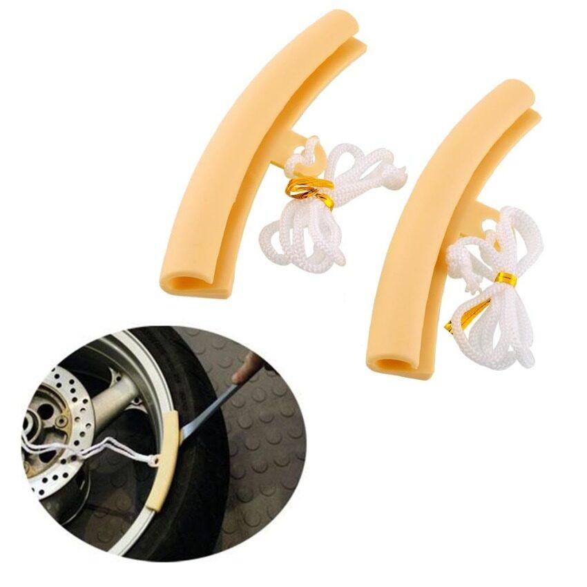 2pcs Motorcycle Saver Tyre Tire Wheel Rim Edge Protectors Tool For Suzuki Honda - intl