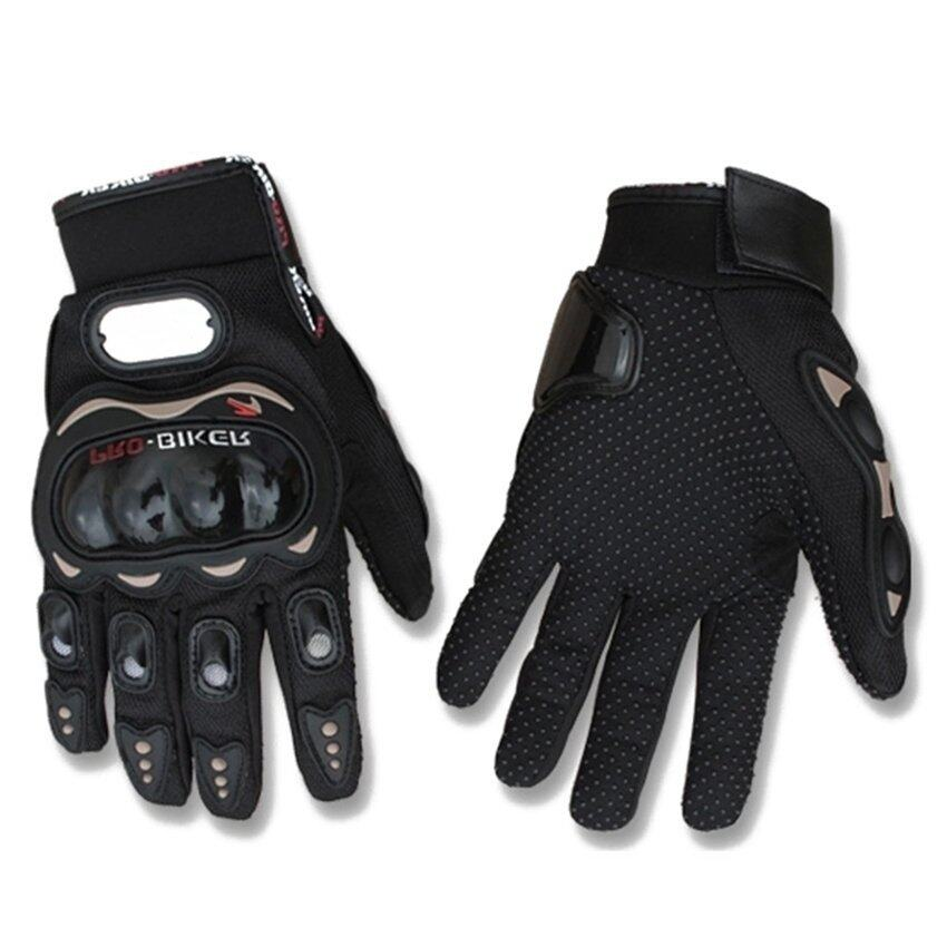 2pcs*Motorcycle Gloves Motorbike Carbon Fiber Biker Bike Racing Full Finger Black M