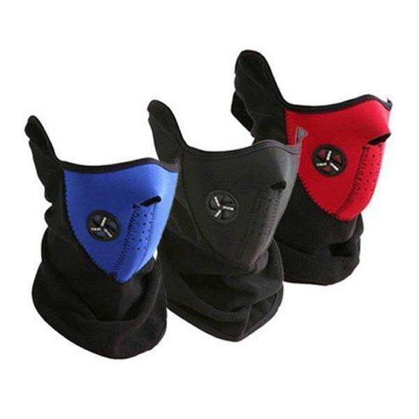 3 PCS Universal Motorcycle Neck Ski Snowboard Bike Warm Face Mask Black - intl