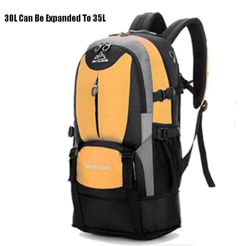 30L-35L Shrinkable Design Bag Men Women Waterproof Travel Backpack Outdoor Camping Backp .