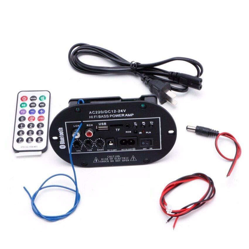 30W Car Bluetooth Subwoofer Hi-Fi Bass Amplifier Board Audio TF USB 220V/12V/24V - intl