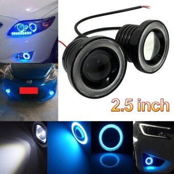 3.5 Inch 30W COB LED Fog Light Projector Car Ice Blue Halo Angle Eyes Ring Bulb