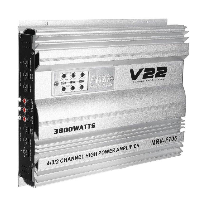 3800Watt 4-Channel MRV-705 Car Audio Power Amplifier 4/3/2CH AMP Aluminum Alloy - intl