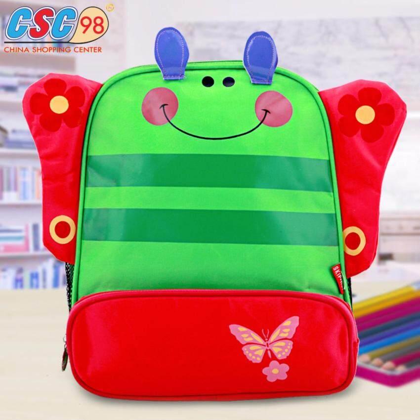กระเป๋าเป้ผ้าไนล่อน สะพายหลังสำหรับเด็ก รูปผีเสื้อ มีปีกแบบ 3D น่ารัก สีเขียว ...