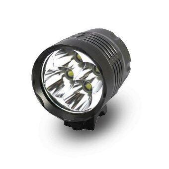 ไฟฉายติดจักรยาน 4 หัว Cree XM-L T6 LED 5200 Lumens + ถ่านชาร์ต + ที่ชาร์ต