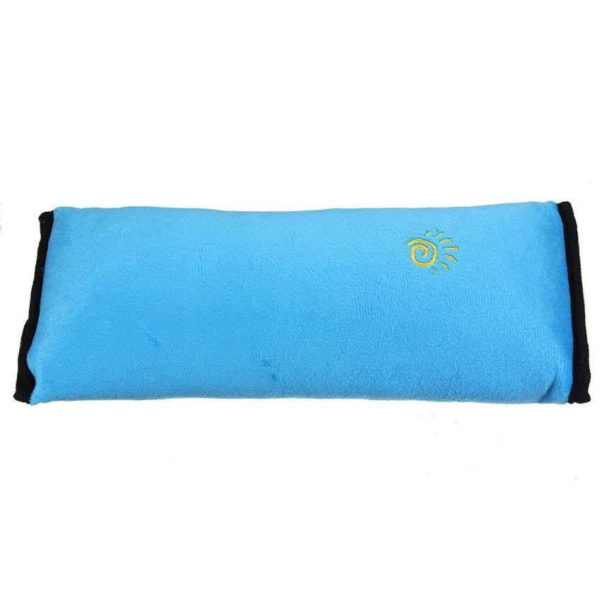 4PCS Car Seat Belt Cover Cushion Shoulder Harness Pad Soft Sleep Pillow Blue - intl