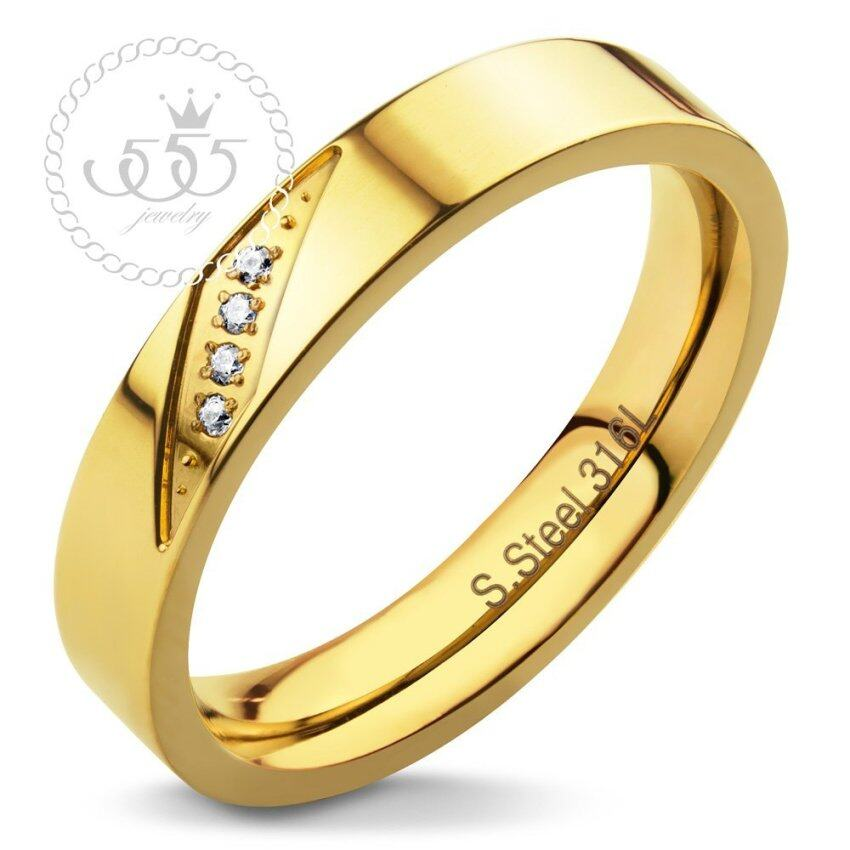 555jewelry แหวน รุ่น MNC-R329-B (Yellow Gold) ...