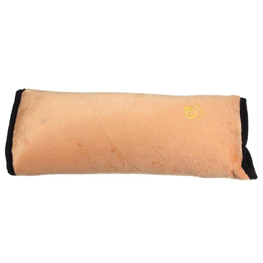 5PCS Car Seat Belt Cover Cushion Shoulder Harness Pad Soft Sleep Pillow Gold - intl