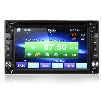 "6.2"" GPS Navigation HD 2DIN Car Stereo DVD Player Bluetooth iPod MP3 TV+ Camera"