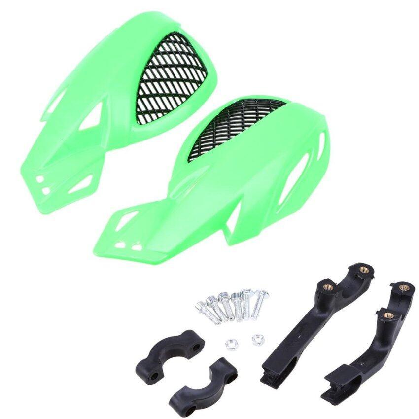 A Pair Green Motorcycle Handlebar Grid Handguard ATV Bike Handlebar Protector - intl