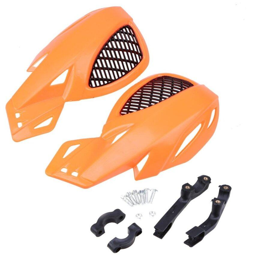ขาย A Pair Orange Motorcycle Handlebar Grid Handguard ATV Bike Handlebar Protector - intl