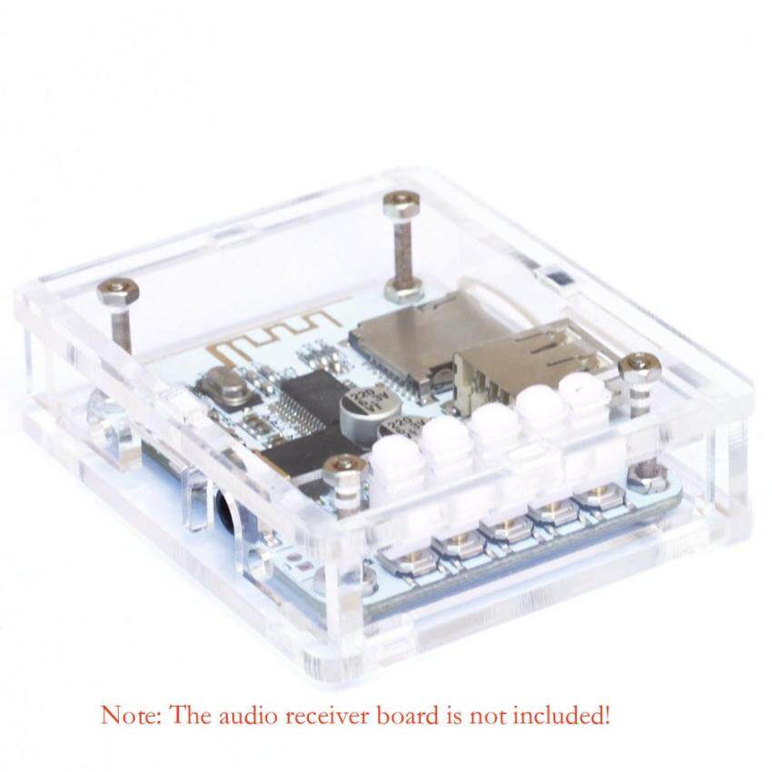 Acrylic DIY Case Cover Shell for USB DC 5V BT 2.1 Audio Receiver Board Wireless Stereo Music Module with TF Card Slot - intl