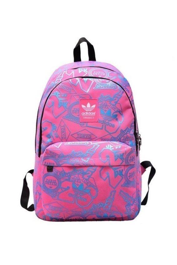 Adidas high school students backpack กระเป๋าเป้กีฬา (สีชมพู) ...