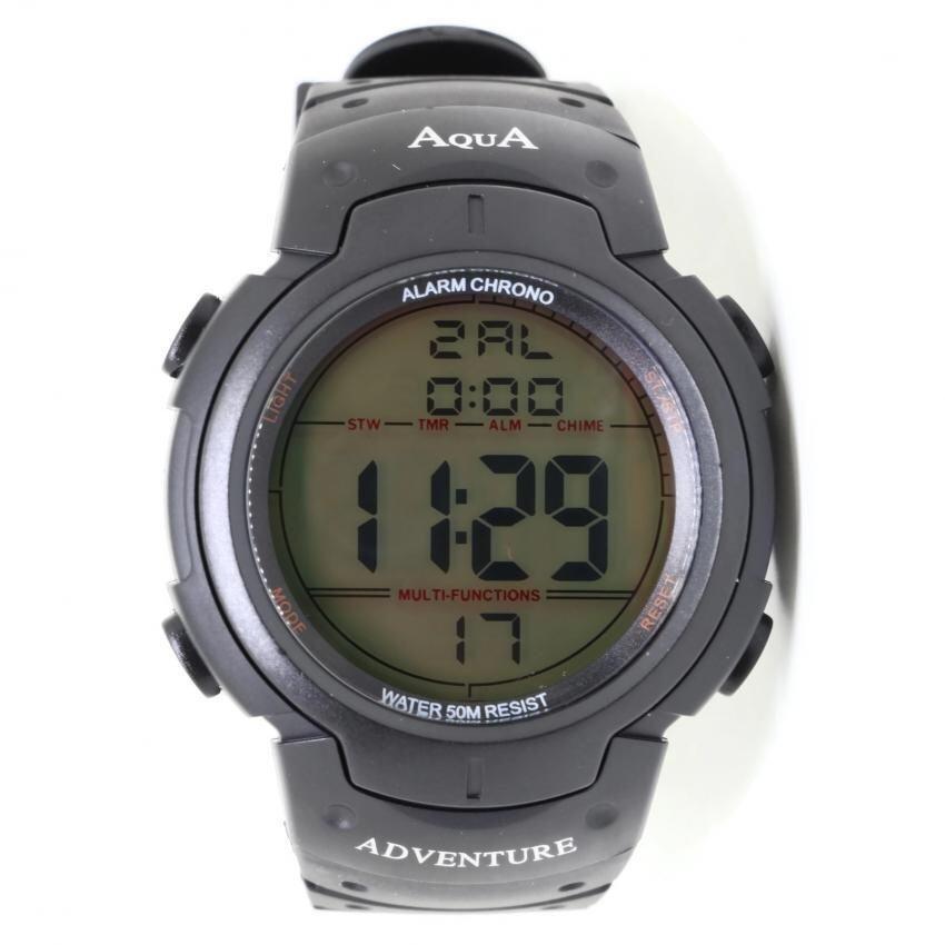 AQUA นาฬิกาWORLD TIMEจับเวลากันน้ำลึก50M