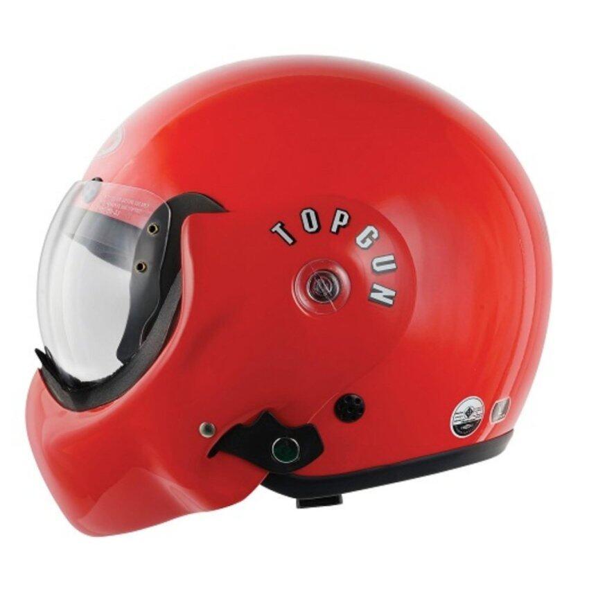 AVEX หมวกกันน็อค / เปิดคาง / Topgunสีแดงสดเงา / ขนาด ฟรีไซค์ (เส้นรอบศรีษะ ประมาณ 58ซม.) ...