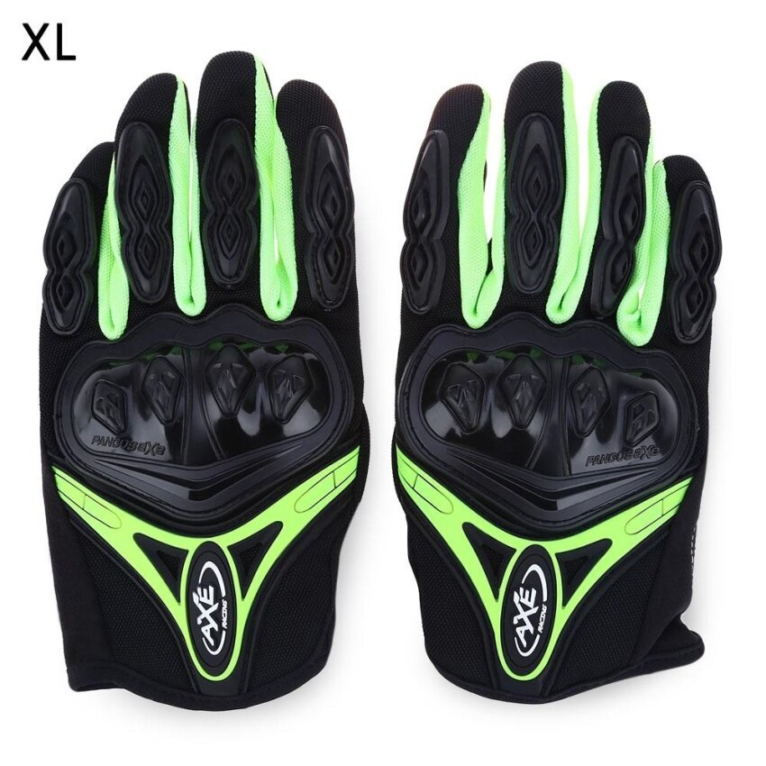 AXE ST-07 Motorcycle Cross-Country Racing Bicycle Riding Protective Gloves Touch Screen Gloves(GREEN)(Size:M)(...) - intl