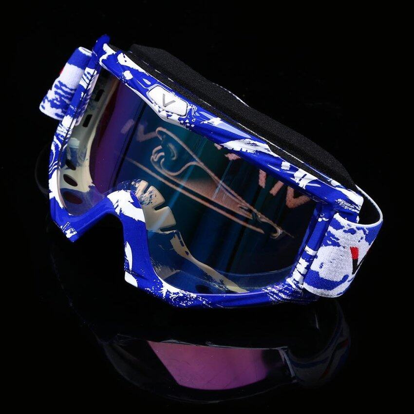 Blue Windproof Motorcycle Goggles Motocross Off-road Trials Racing ATV Protector Eyewear Glasses - intl