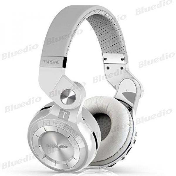 Bluedio T2 Plus Turbine 195° Rotary Foldable Super Bass Wireless Headset Bluetooth Over-ear Headphones with Mic/Micro SD Card Slot/FM Radio DJ For Iphone Samsung HTC LG Tablet Gift Package (White) - intl