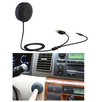 Bluetooth Hands-Free Car Kit Bluetooth 4.1+EDR Audio Receiver For Notebook Computers Mobile Phones - intl