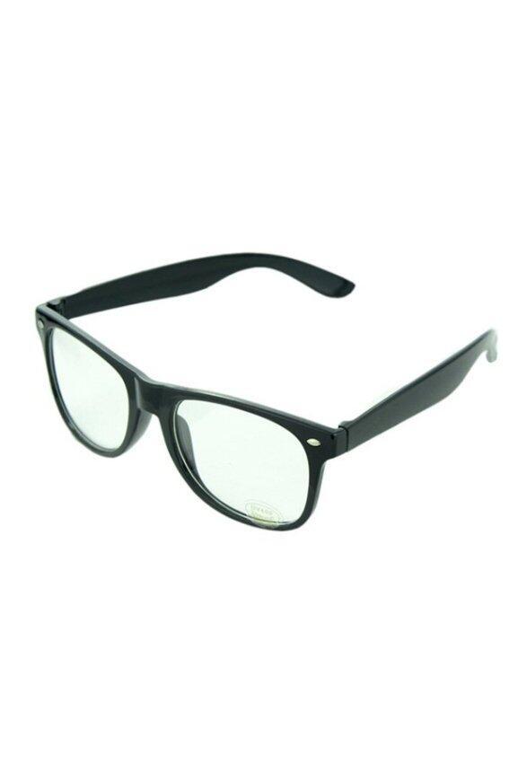 Buytra Unisex Eyeglasses Clear Lens Frame (Black)