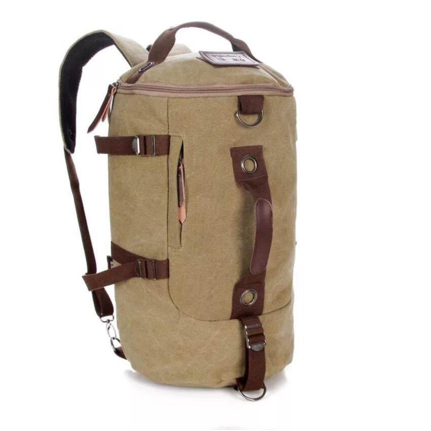 Caogenyizhuxilie รหัส 020 กระเป๋าเป้สะพายหลังทรงแคปซูน สะพายข้างได้ เป็นกระเป๋าผ้าอย่างดี ดีไซด์ทันสมัย