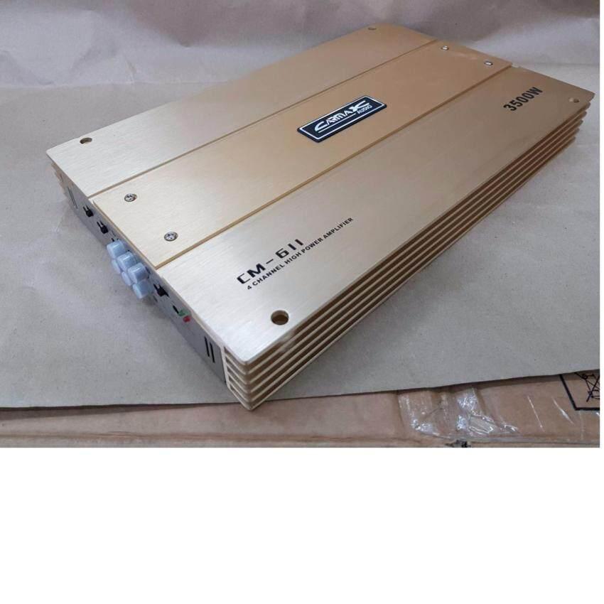 เพาเวอร์แอมป์ CARMAX CM-998-600W 4ch AB -150W x 4output @ 4 Ohms