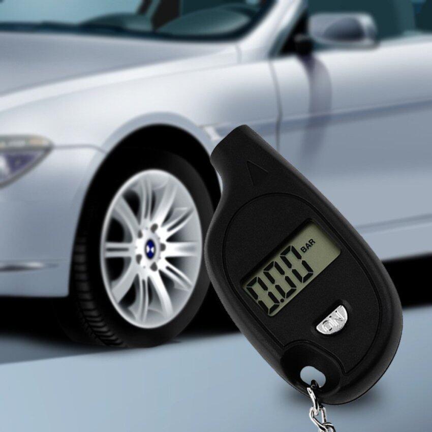 Carmero เครื่องวัดลมยาง ดิจิตอล ที่วัดลมยาง ที่วัดแรงดันลมยาง ที่เติมลมยางรถยนต์ Tire Pressure Gauge Digital Pressure Gaugese (ดำ)