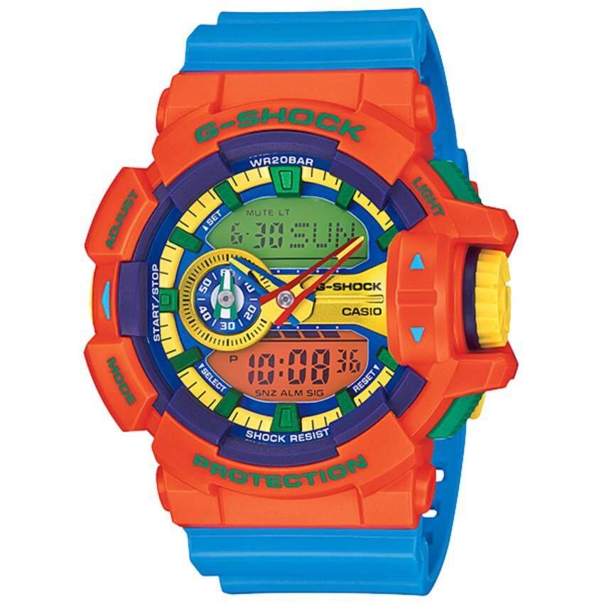 Casio G-Shock รุ่น GA-400-4A - Orange/Blue
