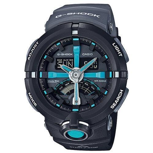 Casio G-Shock นาฬิกาข้อมือผู้ชาย สายเรซิ่น รุ่น GA-500P-1A - สีดำ