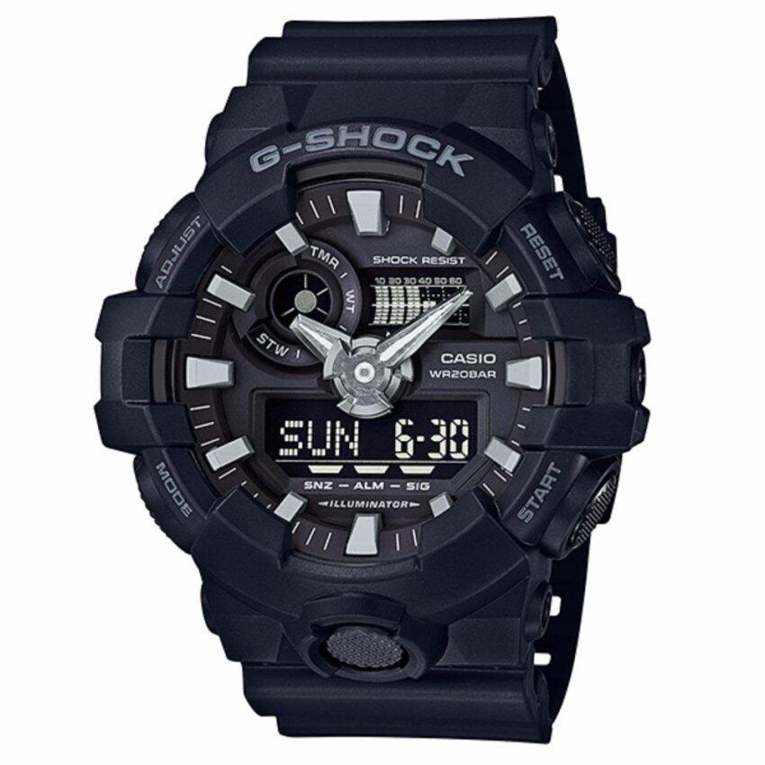 Casio G-shock นาฬิกาข้อมือชาย สายเรซิ่น รุ่น GA-700-1BDR ...