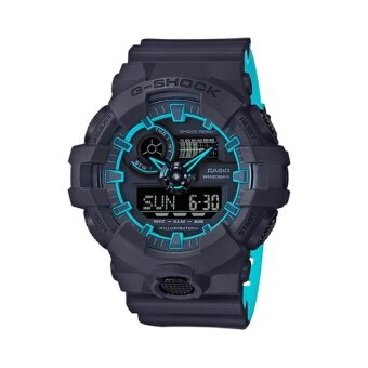 CASIO G-SHOCK นาฬิกาข้อมือผู้ชาย - รุ่น GA-700SE-1A2DR (สีดำ/ฟ้า)