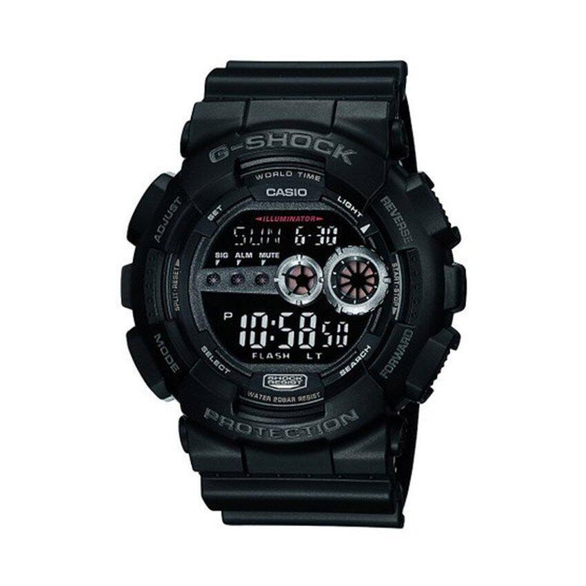 Casio G-Shock นาฬิกาข้อมือผู้ชาย รุ่น GD-100-1BDR (สีดำ)