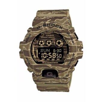 Casio G-Shock นาฬิกาข้อมือผู้ชาย สายเรซิ่น รุ่น GD-X6900CM-5 - สีพรางน้ำตาล