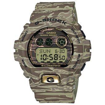 Casio G-Shock นาฬิกาข้อมือผู้ชาย สายเรซิ่น รุ่น GD-X6900TC-5 - สีพรางน้ำตาล