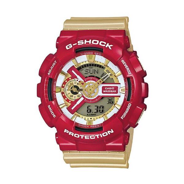 Casio G-shock นาฬิกาข้อมือ สายเรซิ่น รุ่น Ironman GA-110CS-4ADR (Red/Gold)