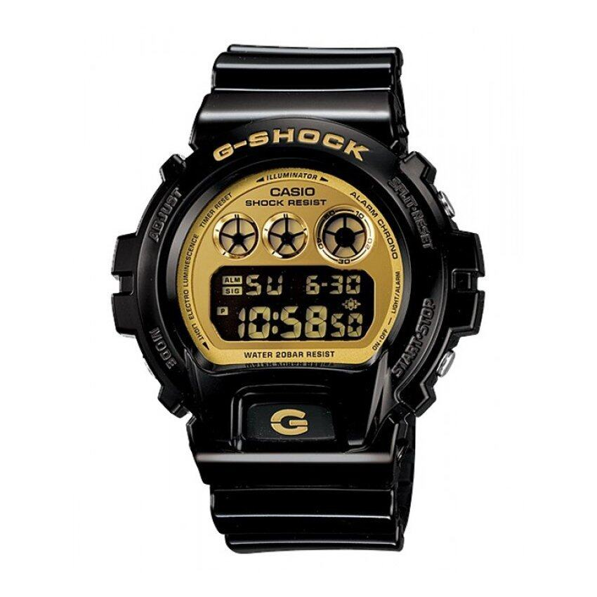 Casio G-Shock นาฬิกาข้อมือผู้ชาย รุ่น DW-6900CB-1DR (Black/Gold)