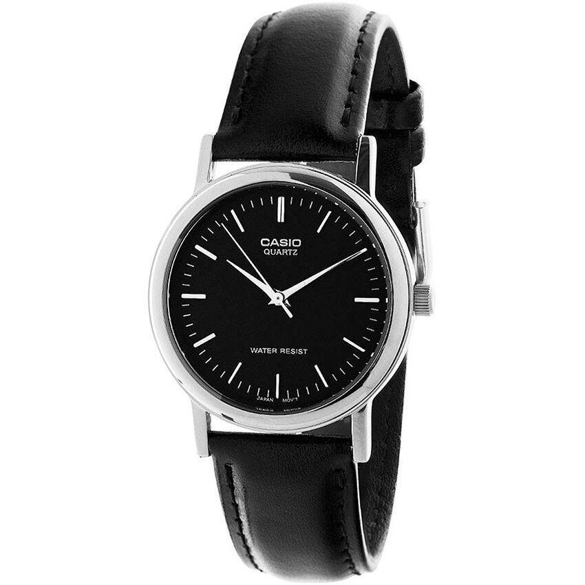 Casio นาฬิกาข้อมือ ผู้ชาย สายหนังสีดำ รุ่น MTP-1095E-1A ( Black ) ...