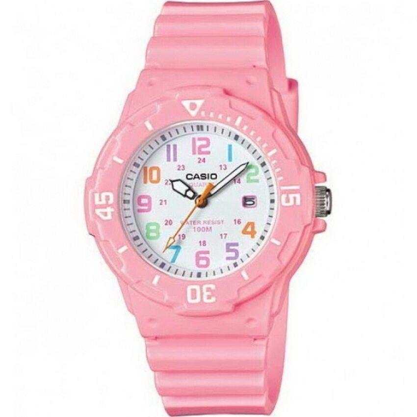 Casio Standard นาฬิกาข้อมือผู้หญิง สายเรซิ่น รุ่น LRW-200H-4B2 - สีชมพู ...